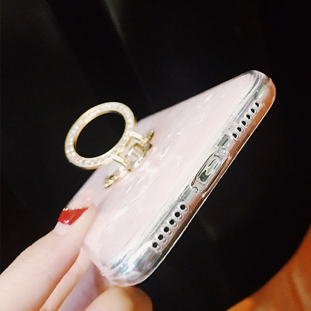 Diamond Cute Shell Wave Stand on  Style Case