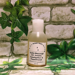 Bath/Massage Oil Arnica, Eucalyptus & Peppermint