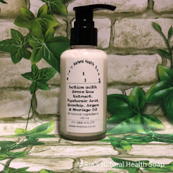 Lotion with Green Tea Extract, Hyaluronic Acid, Rosehip, Argan & Moringo Oil