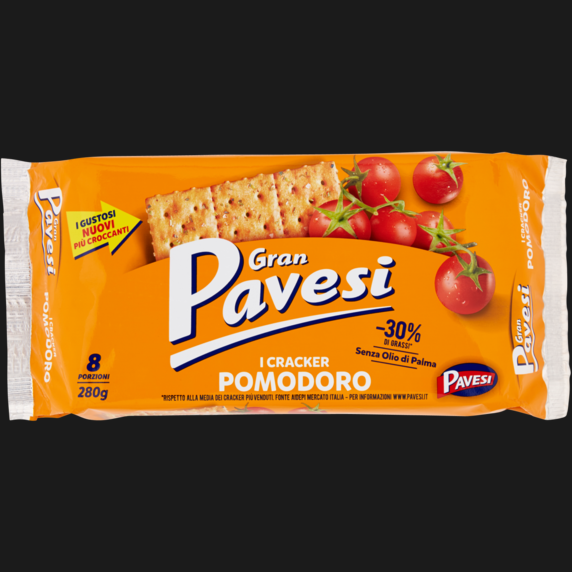 PAVESI CRACKER POMODORO NEW 280 GR (12 in a box)