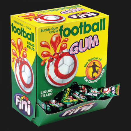 CHICLE FOOTBALL GUM     200 PZ (1 in a box)