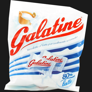 GALATINE CARAMELLE LATTE   125 GR (30 in a box)