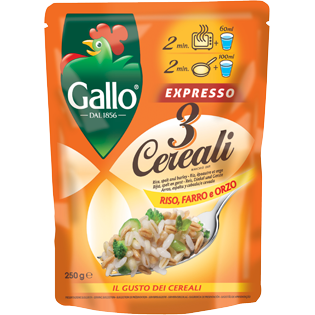 GALLO EXPRESSO 3 CEREALI   250 GR (6 in a box)