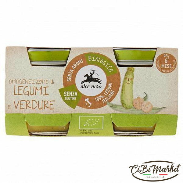 Alcenero Legumes And Vegetables Homogenized 2X80Gr (6 In A Box)