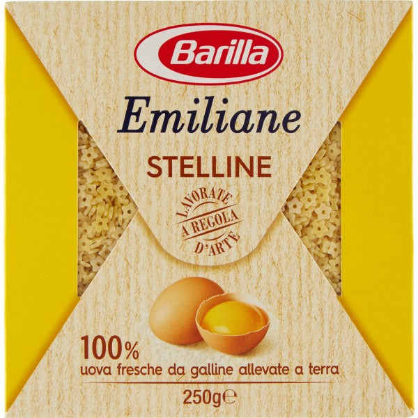 BARILLA STELLINE ALL'UOVO N.108 x275gr (24 in a box)