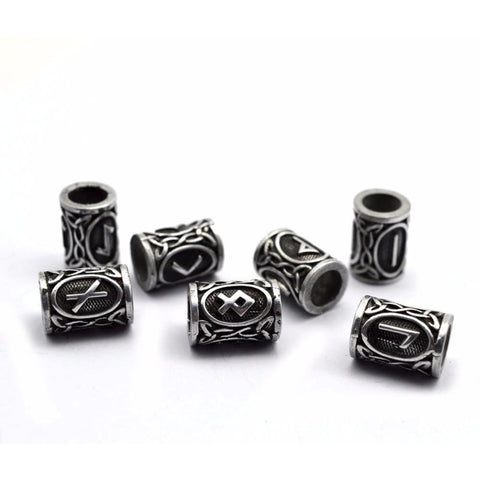 24Pcs Norse Viking Runes Hair & Beard Ornaments Set - Viking Beard Rings