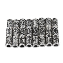 24pcs Norse Viking Runes Hair & Beard Ornaments Set
