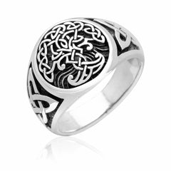 925 Sterling Silver Yggdrasil Ring