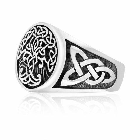 925 Sterling Silver Yggdrasil Ring - Viking Ring