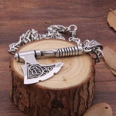 Axe Rune Necklace - Pendant Necklace / With Box / 70Cm