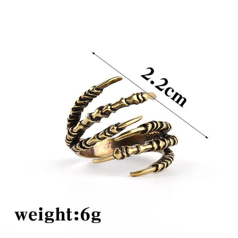 Dragon Claw - Brass Ring