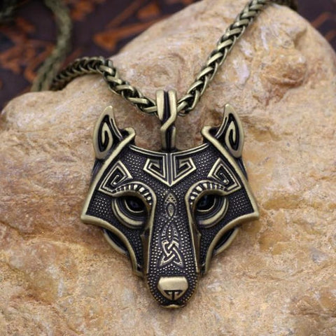 Fenrir: Norse Vikings - Necklace - Antique Bronze Plated / 60Cm