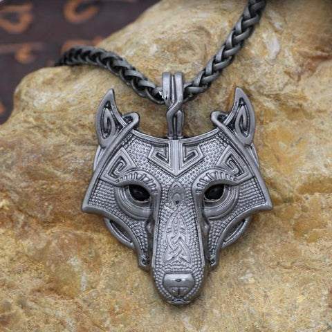 Fenrir: Norse Vikings - Necklace - Black Gun Plated / 60Cm
