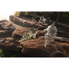 Fenrir Wolf Head Supernatural Pendant