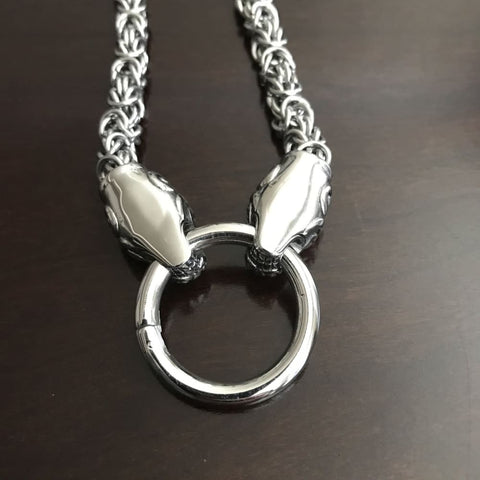 Kings Chain With Wolf Heads - Necklace
