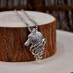 Odin's Wolf Head Necklace