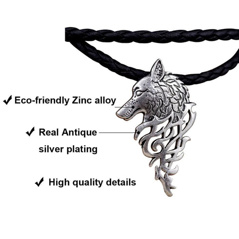Odins Wolf Head Necklace