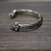Image of Viking Bracelet and Bangle Wolf Head Bracelet For Men and Women Talisman