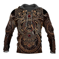 Viking Warrior Tattoo 3D Printed Hoodie
