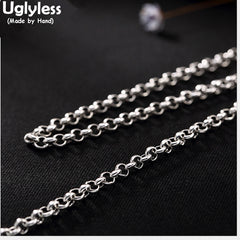 925 Sterling Silver 3MM Viking Necklace without Pendant