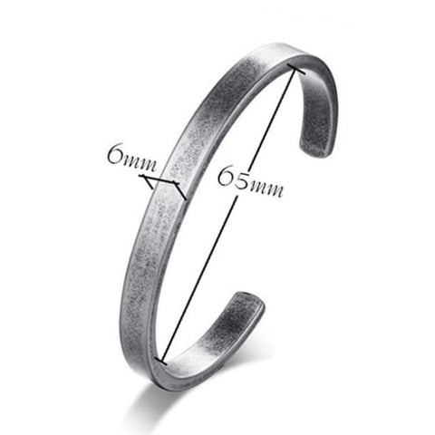 Stainless Steel: Viking Cuff - Norse Bangle - 65mm Diameter