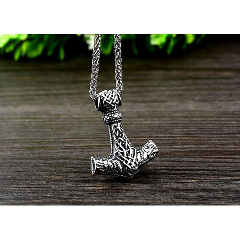 Thors Hammer - Mjolnir - Necklace (316L Stainless Steel)