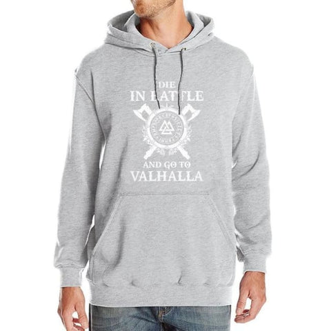 Valhalla Pullover Hoodie - gray / S