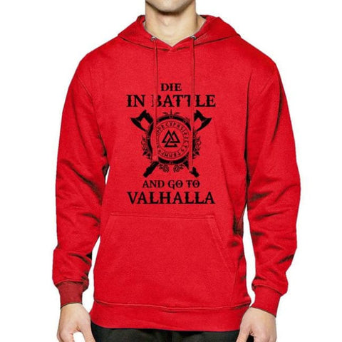 Valhalla Pullover Hoodie - red 1 / S