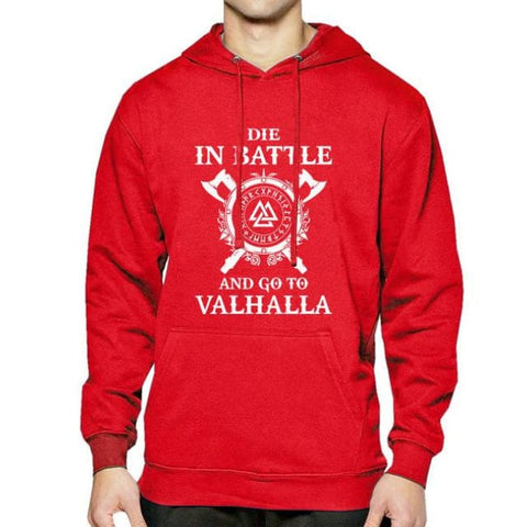 Valhalla Pullover Hoodie - red / S