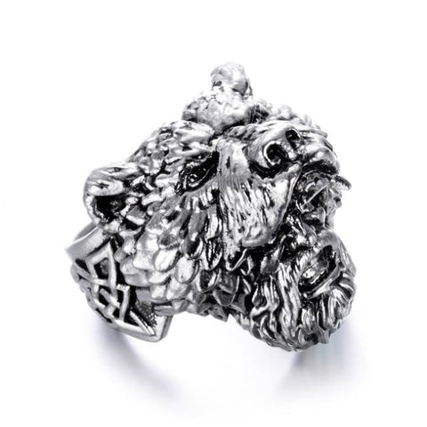 Viking Bear Ring - 10 / Silver