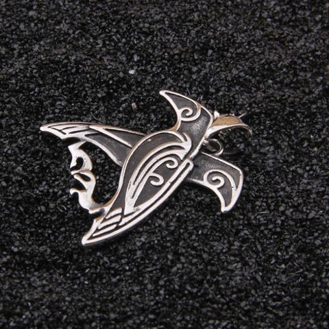 Viking Double Raven Necklace - just pendant / with box / 3mmX70cm