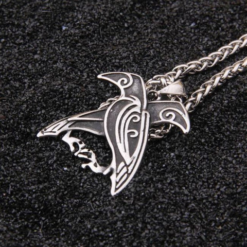 Viking Double Raven Necklace - necklace no box / with box / 3mmX70cm