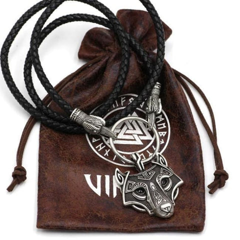Viking Raven Wolf Axe Hammer New Necklace