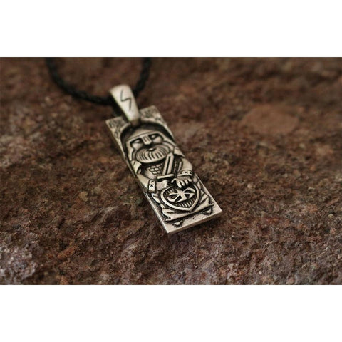 Warrior Of Valhalla With Sword Pendant - Pendant