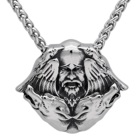 Winged Odin Pendant