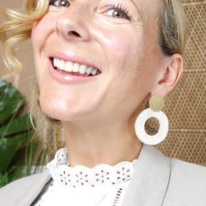 THE FRAN Upcycled Hand-Crafted Statement Earrings (five colors)