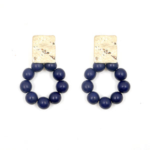 THE JAYNIE Round Wooden Bead Earrings
