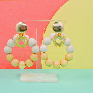 Yellow statement earrings