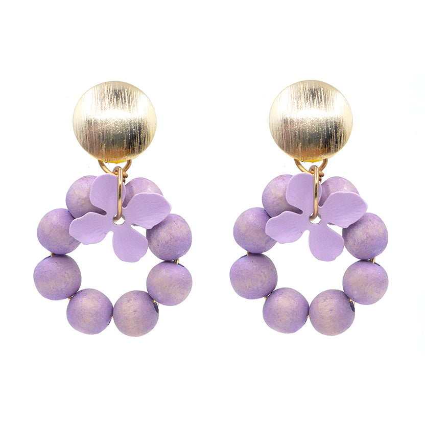 lilac flower earrings