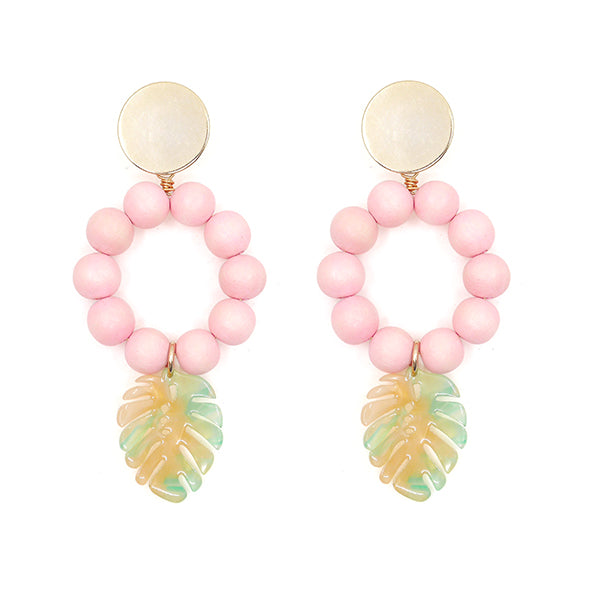 THE LOLA Tropical Leaf Statement Earrings (four colors)