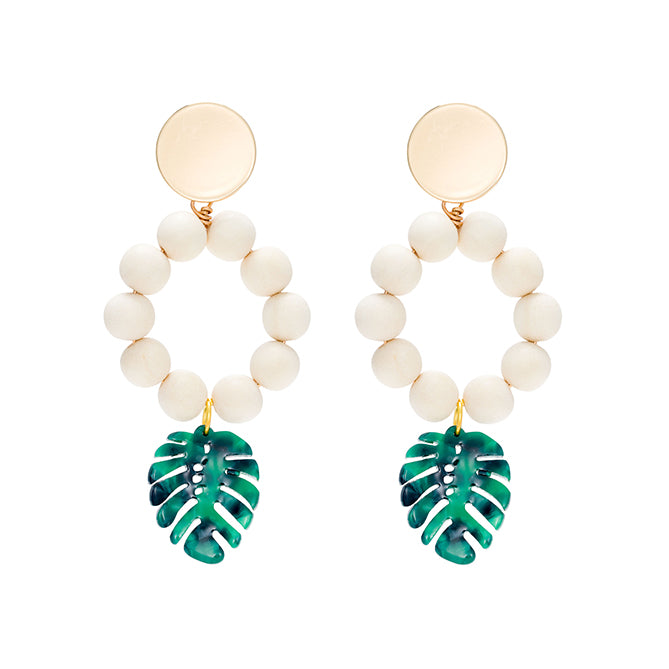 Tropical statement summer earrings