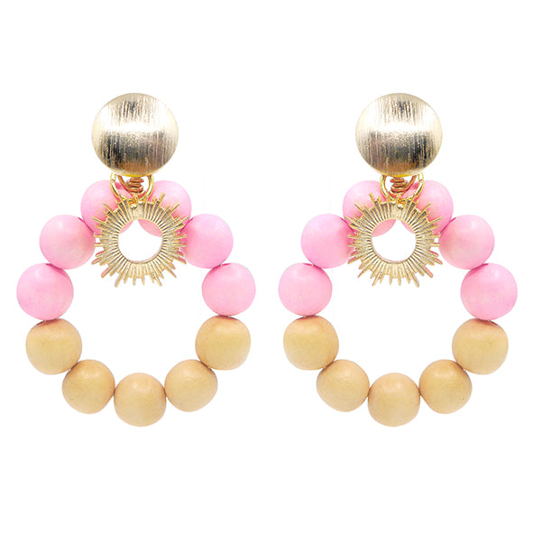 Pink summer statement earrings