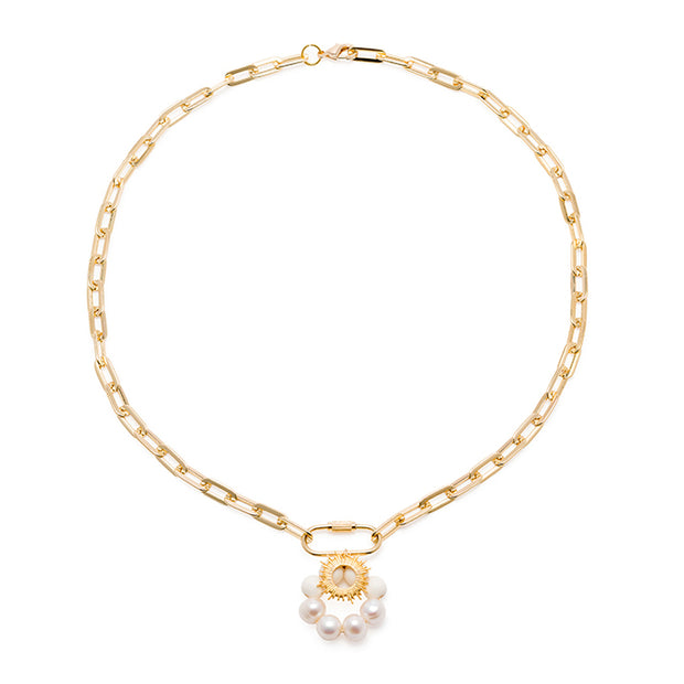 THE THEA Sun Charm Gold Chain Necklace 1