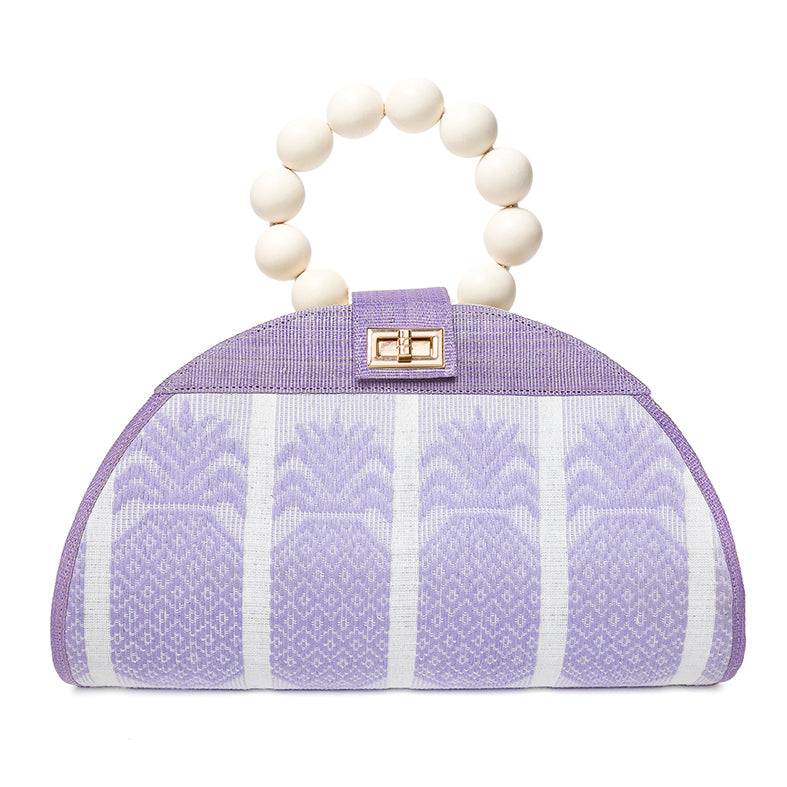 Lilac handwoven summer purse