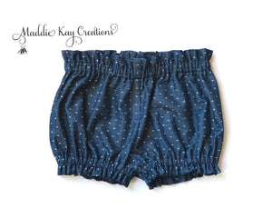 Bloomers - Chambray Swiss Dot NB - girls SZ 5
