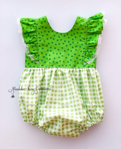 St. Patty's Day Bubble Romper -2T