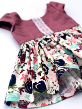 Load image into Gallery viewer, baby toddler girls tunic bloomers handmade lace winter floral