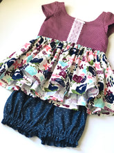 Load image into Gallery viewer, Bloomers - Chambray Swiss Dot NB - girls SZ 5