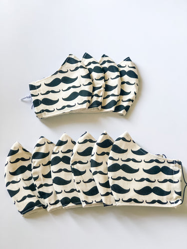 Adult Men's & Women's Mustache Mask