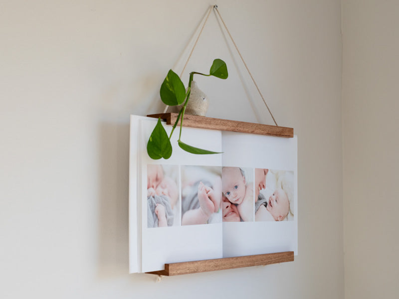Book Frame by Corner Block Studios - Brunette Hardwood